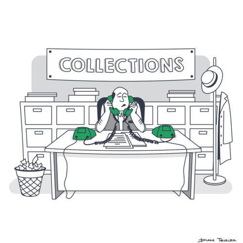 """Collections"" - vector illustration"