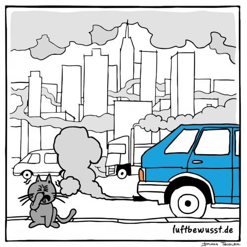 Illustration for luftbewusst.de blogAir pollution