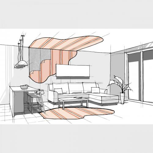 Heating panels illustration
