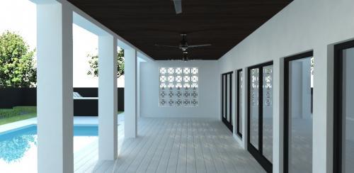 Back patio rendering