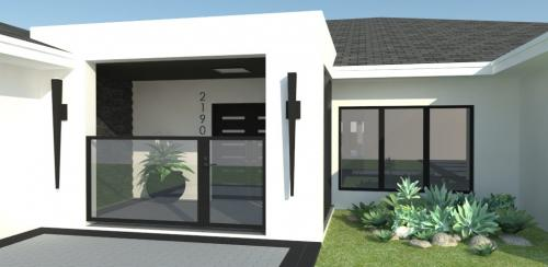 Front gate rendering