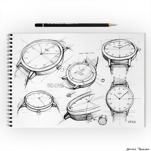 wristwatch sketch