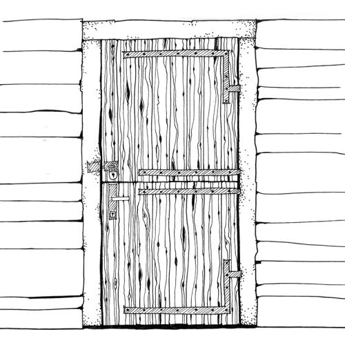 Hut door sketch