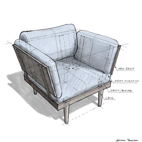 Furniture sketching
