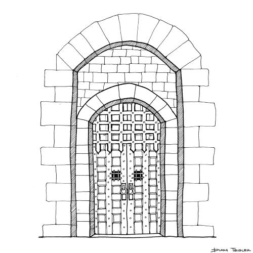 Castle door sketch