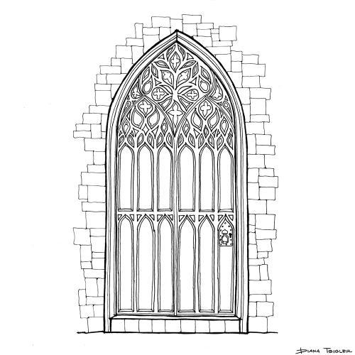 Gothic door sketch