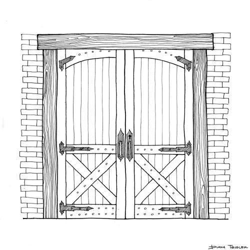 Rustic door sketch